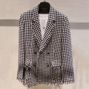 suit Autumn 2020 Black and white check 2/S 3/M 4/L 5/XL Long sleeves routine Straight cylinder tailored collar double-breasted commute routine lattice 30-34 years old 96% and above wool Wool 100% Pure e-commerce (online only)