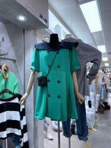 Dress Spring 2021 green S,M,L longuette singleton  Long sleeves commute Doll Collar Loose waist Solid color other Pleated skirt puff sleeve camisole 18-24 years old Type H Other / other 31% (inclusive) - 50% (inclusive) other other