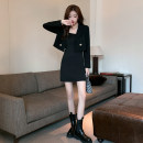 Dress Autumn 2020 Single suspender skirt, single coat S,M,L,XL Short skirt Two piece set Long sleeves commute One word collar High waist Solid color Socket Pencil skirt routine camisole 18-24 years old Type H Others Simplicity 672-673# 81% (inclusive) - 90% (inclusive) other other