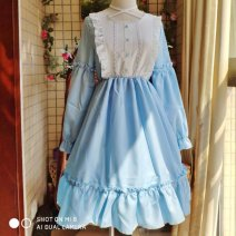 Cosplay women's wear skirt goods in stock Over 14 years old Black, light grey comic Average size Lolita