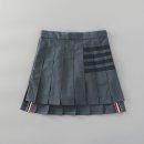 skirt Spring 2021 XS,S,M,L,XL Dark grey, light grey Mid length dress Versatile High waist Pleated skirt stripe Type A 71% (inclusive) - 80% (inclusive) other