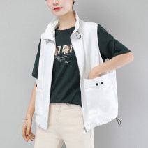 Vest Spring 2020 have cash less than that is registered in the accounts stand collar Solid color zipper 20692 other 30-34 years old A thousand words 51% (inclusive) - 70% (inclusive) pocket Polyester 65% Cotton 30% polyurethane elastic fiber (spandex) 5% Pure e-commerce (online sales only)