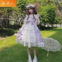 Cosplay women's wear Other women's wear goods in stock Over 14 years old Light purple, light blue comic Average size 4XL [180-200kg recommended]