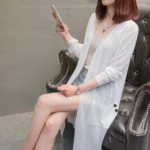 Wool knitwear Summer of 2018 S 90-99 kg, m 100-109 kg, l 110-119 kg, XL 120-129 kg, XXL 130-140 kg, 3XL 140-170 kg Long sleeves singleton  Cardigan other More than 95% Medium length Thin money commute easy V-neck routine Solid color Korean version YSL18051301 18-24 years old other