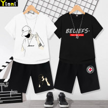 suit Leading Secrets 100cm 110cm 120cm 130cm 140cm 150cm 160cm 170cm male summer motion Short sleeve + pants 2 pieces Thin money There are models in the real shooting Socket nothing Cartoon animation cotton 2021 fashion DXTZ-3 Class B Cotton 100% Spring 2021 Chinese Mainland Guangdong Province