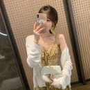 Wool knitwear Summer 2021 S M L XL White, blue, pink Long sleeves singleton  Cardigan other More than 95% have cash less than that is registered in the accounts Thin money commute easy V-neck routine Solid color Single breasted Korean version 326-2049# 18-24 years old Shafenya Other 100%