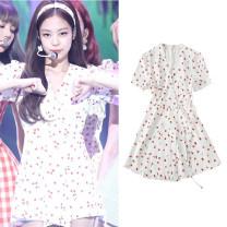 Scarf / silk scarf / Shawl other Dress + shorts [S] dress + shorts [M] dress + shorts [l] dress + shorts [XL] summer female Broken flowers Jingxuan Summer 2021