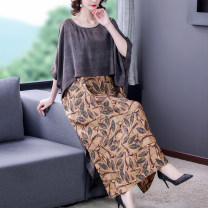 Women's large Spring 2021 Decor XL 2XL 3XL 4XL 5XL L Dress commute easy Socket Decor Retro Narong Yuyou 40-49 years old Medium length Other 100% Pure e-commerce (online only)