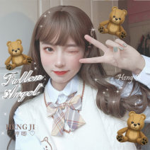 Whole wig High temperature silk Long curly hair Sweet and lovely Fashion girl Hum and haw M26hjm Anna orange tea brown Main color dark brown honey pudding chocolate
