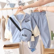 suit Netnike tide Blue, orange 90cm,100cm,110cm,120cm,130cm,140cm neutral spring and autumn Korean version Long sleeve + pants 2 pieces Thin money No model Socket nothing children Giving presents at school Chinese Mainland Zhejiang Province
