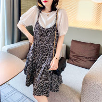 Dress Summer 2021 Decor S M L Mid length dress Two piece set Short sleeve street Decor routine 30-34 years old Zimo you BI202v90345p4000 More than 95% other Other 100% Europe and America