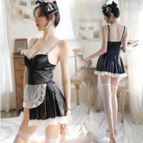 Nightdress There's no end to flattery Hair band + dress + underwear [maid suit] + black stockings [maid suit] + white stockings [maid suit] + feather stick [maid suit] + black stockings + feather stick [maid suit] + white stockings + feather stick Average size sexy youth cotton More than 95%