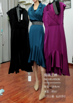 Dress Spring 2021 Blue, purple, black M,L,XL Short sleeve commute Crew neck Solid color routine 18-24 years old 31% (inclusive) - 50% (inclusive) other