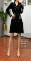 Dress Spring 2021 black Average size Short sleeve commute Crew neck Solid color routine 18-24 years old 31% (inclusive) - 50% (inclusive) other