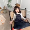 Dress black female 90cm,100cm,110cm,120cm,130cm,140cm Cotton 95% other 5% spring and autumn Korean version Strapless skirt Solid color cotton A-line skirt Q227 Class B 2 years old, 3 years old, 4 years old, 5 years old, 6 years old, 7 years old Chinese Mainland Zhejiang Province Jinhua City