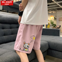 Casual pants Grey Black Pink Green M L XL 2XL 3XL 4XL 5XL Summer 2021 shorts Straight pants Natural waist street routine 18-24 years old 96% and above WRZB-2021040705 wrzb polyester fiber Polyethylene terephthalate (polyester) 97% cotton 3% Pure e-commerce (online only) neutral