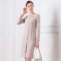 Dress Winter of 2019 Picture color XS S M L XL Middle-skirt singleton  Long sleeves street Crew neck High waist Solid color zipper One pace skirt routine 25-29 years old 1 ONE CHIC Three dimensional decorative zipper More than 95% polyester fiber Other polyester 95% 5% Pure e-commerce (online only)
