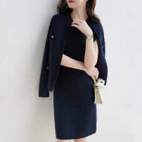 Fashion suit Autumn 2020 S,L,M Navy, G42 cream Other / other E425BN726807 rabbit 's hair