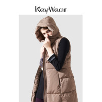 Vest Winter of 2019 Light coffee S M L XL have more cash than can be accounted for Hood Versatile Solid color zipper 25-29 years old Key Wear pocket Same model in shopping mall (sold online and offline) More than 90% white duck down