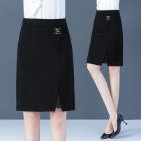 skirt Autumn 2020 26/S 27/M 28/L 29/XL 30/2XL 31/3XL black Middle-skirt Versatile High waist skirt Solid color Type H 25-29 years old 6633X 51% (inclusive) - 70% (inclusive) Weicai nylon Polyamide fiber (nylon) 54.5% viscose fiber (viscose fiber) 40.2% polyurethane elastic fiber (spandex) 5.3%