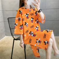 T-shirt M L XL 2XL Summer 2020 Short sleeve Crew neck easy Medium length routine commute polyester fiber 51% (inclusive) - 70% (inclusive) 18-24 years old Korean version science fiction Shengqi Butterfly 20200517-1902 Polyester 65% Cotton 30% polyurethane elastic fiber (spandex) 5%