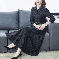 Women's large Autumn of 2019 black S M L XL 2XL 3XL 4XL Dress singleton  commute Self cultivation moderate lady Medium length routine D39EW Gutiero 30-34 years old 96% and above Medium length Other 100% Pure e-commerce (online only) other