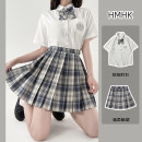 Other suits Summer 2021 White shirt (with bow tie) gentle plaid skirt (single piece) white shirt + gentle plaid skirt (with bow tie) XS S M L XL 18-25 years old HMHK JK006 polyester fiber Polyester 60% cotton 40% Pure e-commerce (online only)