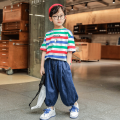 suit The mark of Ningmeng green 110cm 120cm 130cm 140cm 150cm 160cm male summer leisure time Short sleeve + skirt 2 pieces Thin money There are models in the real shooting Socket nothing stripe cotton children Learning reward NMYJ-TZ6833 Class B Cotton 85% others 15% Summer 2021 Chinese Mainland