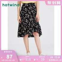 skirt Summer 2020 S M L XL 01 BLACK 25 yellow 06 blue Middle-skirt Sweet Natural waist Ruffle Skirt Broken flowers Type A 18-24 years old F14W0600 More than 95% other Hot wind polyester fiber Lotus leaf edge Polyester 100% Same model in shopping mall (sold online and offline) Ruili