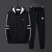 Leisure sports suit autumn M (90-105 kg) l (105-120 kg) XL (115-135 kg) 2XL (135-155 kg) 3XL (155-170 kg) 4XL (170-190 kg) 5XL (190-205 kg) Long sleeves Jucson mabert Ninth pants youth D18 set Autumn 2020