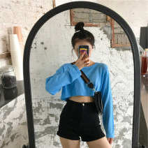 T-shirt Thin sleeves, black M,L,XL Spring 2021 Long sleeves Crew neck easy have cash less than that is registered in the accounts routine commute other 96% and above 18-24 years old Korean version classic Cartoon animation, solid color Luminous shadows / fine wind UUTL85940