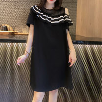 Dress Summer 2020 black S M L XL Mid length dress singleton  Short sleeve street Crew neck High waist Solid color Socket routine Others 30-34 years old Miheng BB202v11543p0130 More than 95% other Other 100% Pure e-commerce (online only) Europe and America