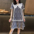 Dress Summer 2020 Navy Blue S M L XL Middle-skirt singleton  Short sleeve street Doll Collar High waist Decor Socket A-line skirt routine Others 30-34 years old Miheng BB202v11711p0172 More than 95% other Other 100% Pure e-commerce (online only) Europe and America