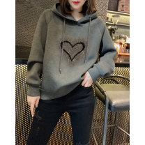 Sweater / sweater Spring 2021 grey S M L XL Long sleeves have cash less than that is registered in the accounts Socket singleton  routine Hood easy street routine 30-34 years old 96% and above Miheng other BB204v13374p1220Z Other 100% Pure e-commerce (online only) Europe and America