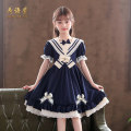 Dress female He Yuxuan 110cm,120cm,130cm,140cm,150cm,160cm Polyester 100% spring and autumn Lolita Long sleeves Solid color cotton A-line skirt 2085LYQ Class B Chinese Mainland Guangdong Province Shantou City