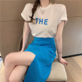 Dress / evening wear Daily appointment S M L XL White top and blue skirt Korean version Summer 2021 18-25 years old J58 Short sleeve AdanYC Other 100% Pure e-commerce (online only)