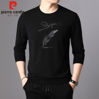 T-shirt Youth fashion 8517 black, 8517 purple, 8517 white thin 165/M,170/L,175/XL,180/XXL,185/XXXL,190 Pierre Cardin / Pierre Cardin Long sleeves Crew neck Self cultivation Other leisure spring 5118z6336 Cotton 95% polyurethane elastic fiber (spandex) 5% youth routine tide Cotton wool 2021 printing