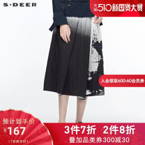 skirt Autumn 2019 longuette Natural waist commute A-line skirt Type A 71% (inclusive) - 80% (inclusive) cotton 25-29 years old S19381152 other zipper s.deer Ol style Cotton 79% polyamide fiber (nylon) 21% Same model in shopping malls (both online and offline) S/160 M/165 L/170 XL/175 Black / 91