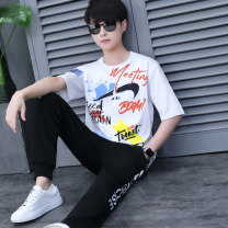 suit Aoyiluo M L XL 2XL 3XL male summer Korean version Short sleeve + pants 2 pieces Thin money There are models in the real shooting Socket nothing Cartoon animation children birthday AYL-2021040404 Summer 2021 9, 10, 11, 12, 13, 14 Chinese Mainland