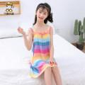 Home skirt / Nightgown 70 degree blue 110cm 120cm 130cm 140cm 150cm 160cm Viscose (viscose) 100% summer female 4 years old 5 years old 6 years old 7 years old 8 years old 9 years old 10 years old 3-5 years old 11 years old 5-7 years old 12 years old 7-9 years old 9-11 years old Home Class B other