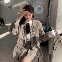 Fashion suit Winter 2020 S M L XL Suit + skirt suit + shirt (with tie) + skirt [thin style in spring and summer] suit + shirt (with tie) + skirt 18-25 years old Song Qian Z8730 91% (inclusive) - 95% (inclusive) polyester fiber Polyester 100% Pure e-commerce (online only)