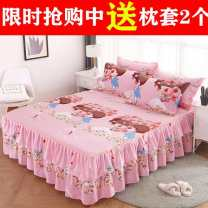 Bed skirt 180cmx200cm bed skirt for pillow case, 120cmx200cm bed skirt for pillow case, 200cmx220cm bed skirt for pillow case, 180cmx220cm bed skirt for pillow case, 150cmx200cm bed skirt for pillow case polyester cotton Other / other Plants and flowers First Grade Bed skirt and bed cover