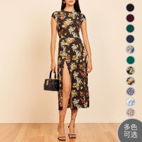 Dress Summer 2020 US 0,US 2,US 4,US 6,US 8,US 10,US 12,US 0P,US 2P,US 4P,US 6P,US 8P,US 10P,US 12P Mid length dress singleton  Short sleeve Other / other other