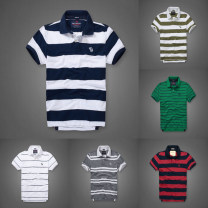 T-shirt Youth fashion routine Abubirment Feocn Short sleeve Lapel Self cultivation Other leisure summer routine Simplicity in Europe and America 2020 stripe cotton washing More than 95%