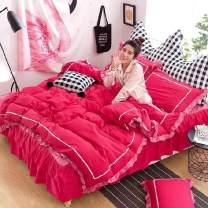 Bed skirt 150x200cm four piece bed skirt set, 180x200cm four piece bed skirt set, 200x220cm four piece bed skirt set cotton Chunguang, lanruo, Menglu, Mulan, youth, Xiyu, Xiangqing, Xinyao, Xiumei, Yajing Other / other Solid color First Grade