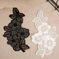 Cloth stickers Solid color Silver Black Lace Silver Black Lace, silver white lace, black and white pair, large black rose flower, black cloth with diamond, medium black lace flower, white nail bead P / 1, white nail bead Q / 1, white nail bead R / 1, white nail bead s / 1, white nail bead T / 1
