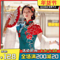 Cosplay women's wear suit goods in stock Over 8 years old game S. M, l, XL, XXL, customized other The fifth personality Cos dress red butterfly thirteen Niang