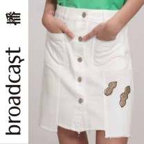 skirt Summer 2021 XS,S,M,L W00 bright white Short skirt Versatile Natural waist skirt other Type A 25-29 years old BDN7BD894 81% (inclusive) - 90% (inclusive) Denim Broadcast / broadcast cotton