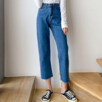 Women's large Summer 2021 Blue eight, blue nine 25 26 27 28 29 30 31 trousers singleton  commute Korean version MKD-ZH568 Mikedo 18-24 years old 71% (inclusive) - 80% (inclusive) Other 100% Pure e-commerce (online only) Ninth pants