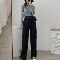 Women's large Spring 2021 Black apricot oat S [75-85 Jin] m [85-95 Jin] l [95-110 Jin] XL [110-130 Jin] 2XL [130-150 Jin] 3XL [150-170 Jin] 4XL [170-200 Jin] trousers singleton  commute easy moderate Solid color Korean version MKD-XD6805 Mikedo 18-24 years old Other 100% Pure e-commerce (online only)